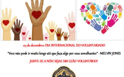 05 DE DEZEMBRO: DIA INTERNACIONAL DO VOLUNTARIADO