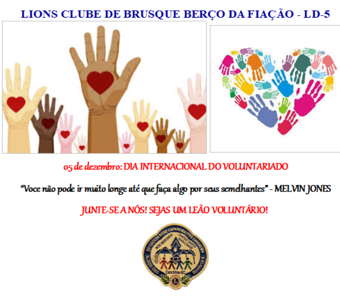 05 DE DEZEMBRO: DIA INTERNACIONAL DO VOLUNTARIADO